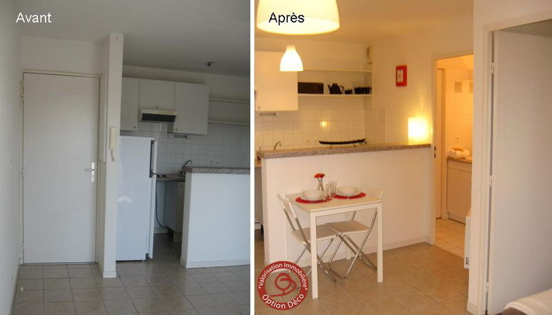 Logement vide cuisine avant apr s photo de home staging - Deco m6 cuisine avant apres ...