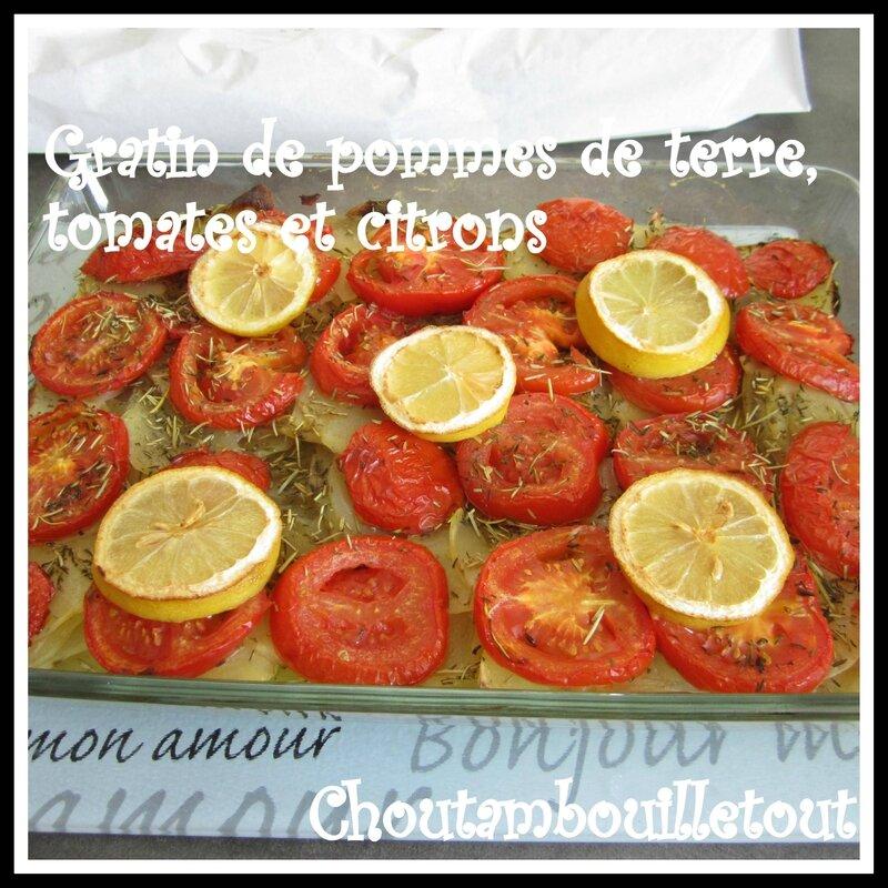 gratin patate tomate citron