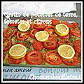 Gratin de pommes de terre, tomates et citrons