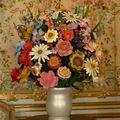 Large Vase of Flowers. 1991. Bois polychrome.