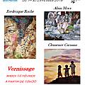 Exposition à l'hopital Marchant à Toulouse - Février 2016 - Clémence Caruana / Frédérique Roche / Alain Mora