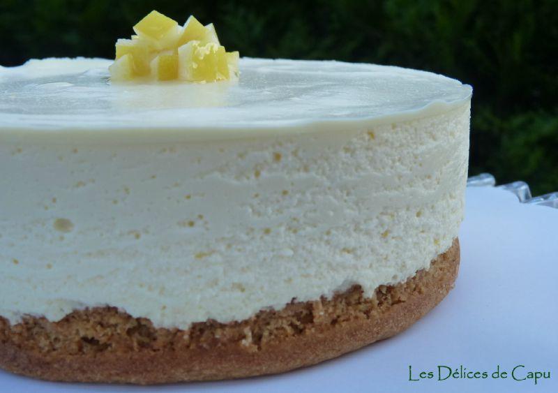 cheesecake au citron sans cuisson les d lices de capu. Black Bedroom Furniture Sets. Home Design Ideas