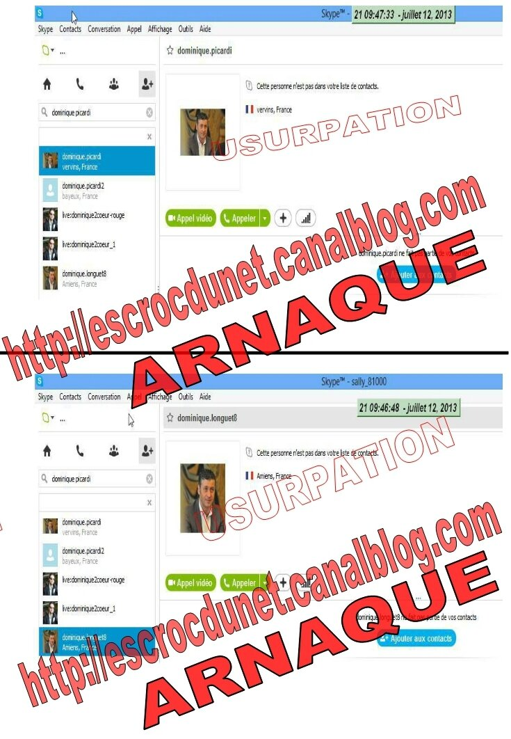 sur cette image nous avons regroup deux faux profils skype photo de laurent marti pr sident. Black Bedroom Furniture Sets. Home Design Ideas