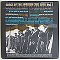 Songs of the spanish civil war vol 1, folkways rcds, lp, 1961