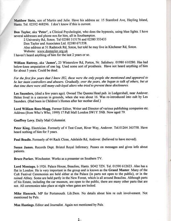 93535809 Scandale.Angleterre : Une liste éloquente de membres dun réseau pédo satanique