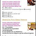 Cours de cuisine spécial noël !!