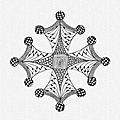 Cruz occitana en zentangle