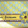 Carte anniversaire tata Joe - Mars 2013