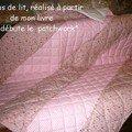 Dessus de lit rose, achevé 2006