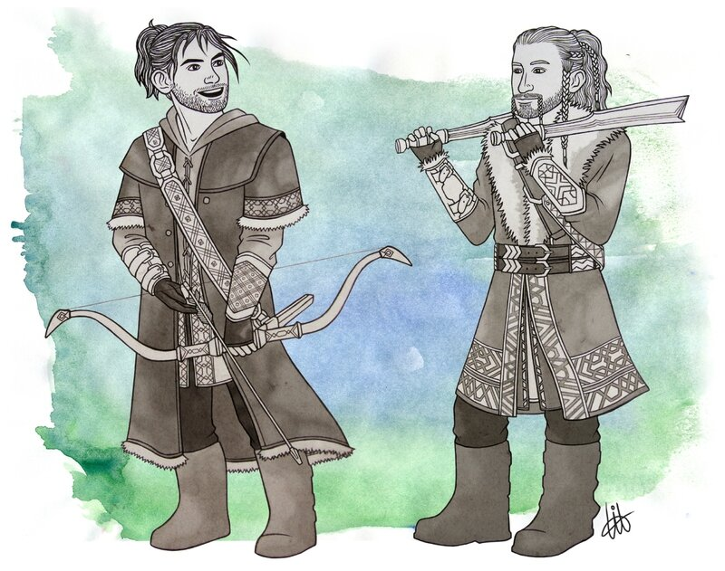 Fíli & Kíli - Training in Ered Luin