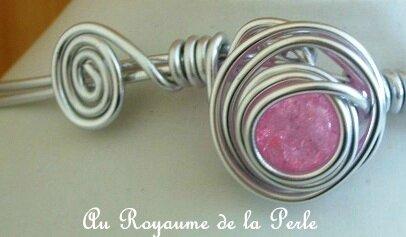 Collier rose aluminium détail 1a