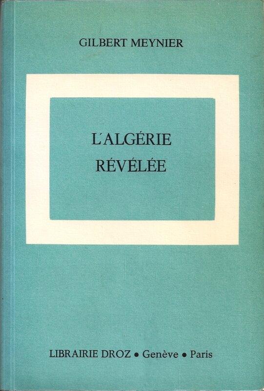 L'Algérie révélée 1981 couv