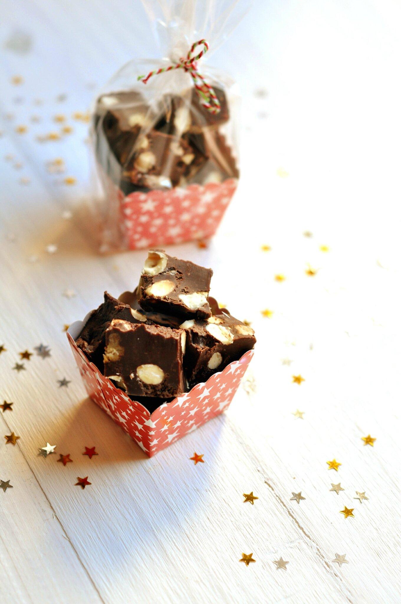 ☆ Calendrier de l'avent : 1 surprise par jour ☆ Jour 21 : Fudges aux deux chocolats