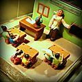 Gâteau thème classe école