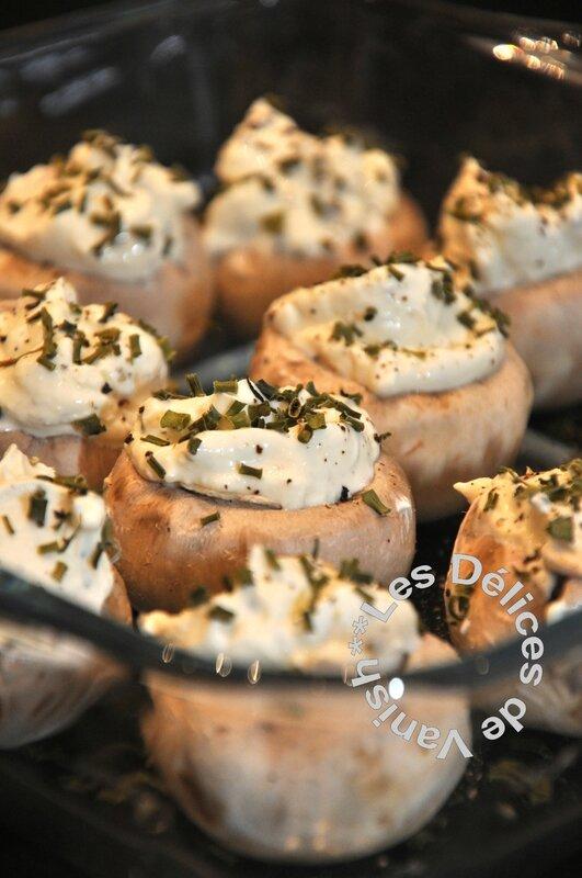 champignons farcis, boursin cuisine, apéro, apéritif