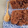 Cake fondant au chocolat et aux noisettes