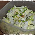 SALADE VG : RIZ THA, PETITS POIS, CACAHUTES ET CHOU CHINOIS