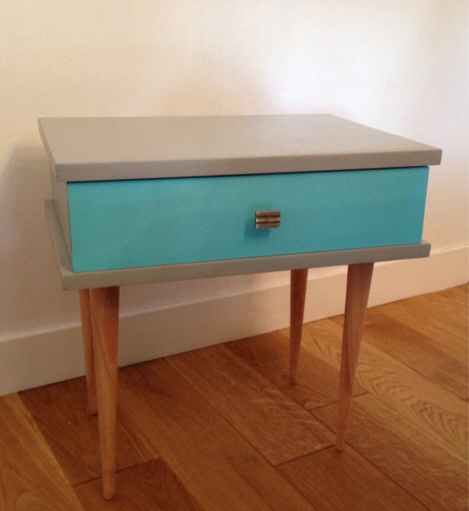 Relooking Table De Chevet Vintage Eulalie M 39 A Dit