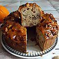 Cake à l'orange, aux noix du brésil, pommes & châtaignes