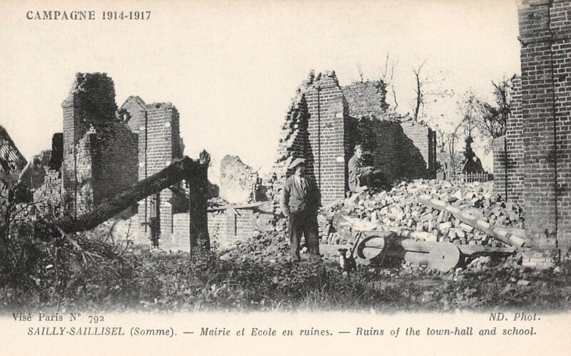 Sailly-Saillisel ruines 1914-1917
