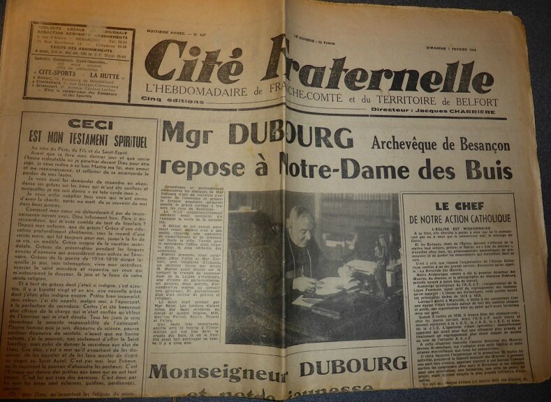 mgr dubourg enterrement
