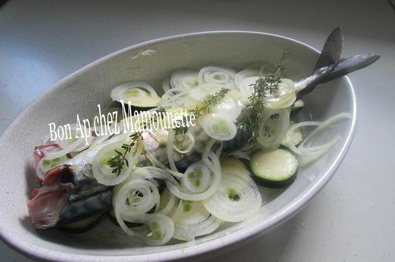 maquereau vin blanc courgette oignon saumon cocos plats 004