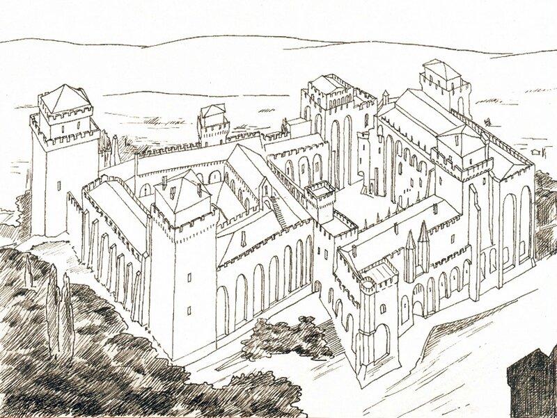 Palais_des_Papes_d'Avignon_par_Joseph_ROSIER