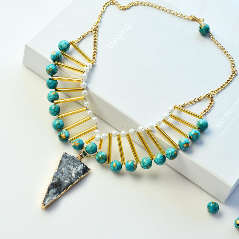 Turquoise_and_Bugle_beads_Statement_Necklace_4