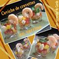 Ceviche de crevettes en verrine
