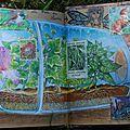 Challenge artjournal et gribouillages # 45 : jardins