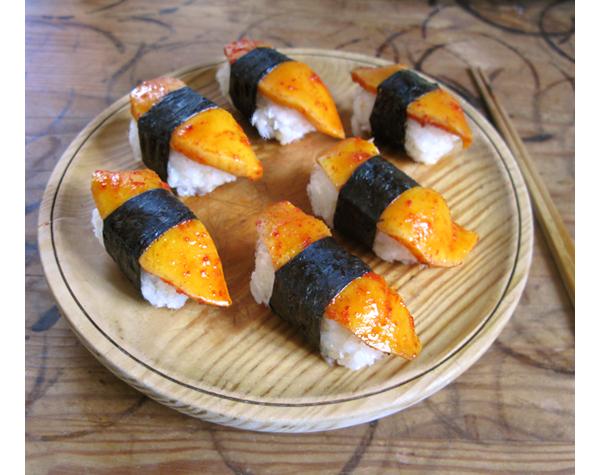 sushi kimchi mango