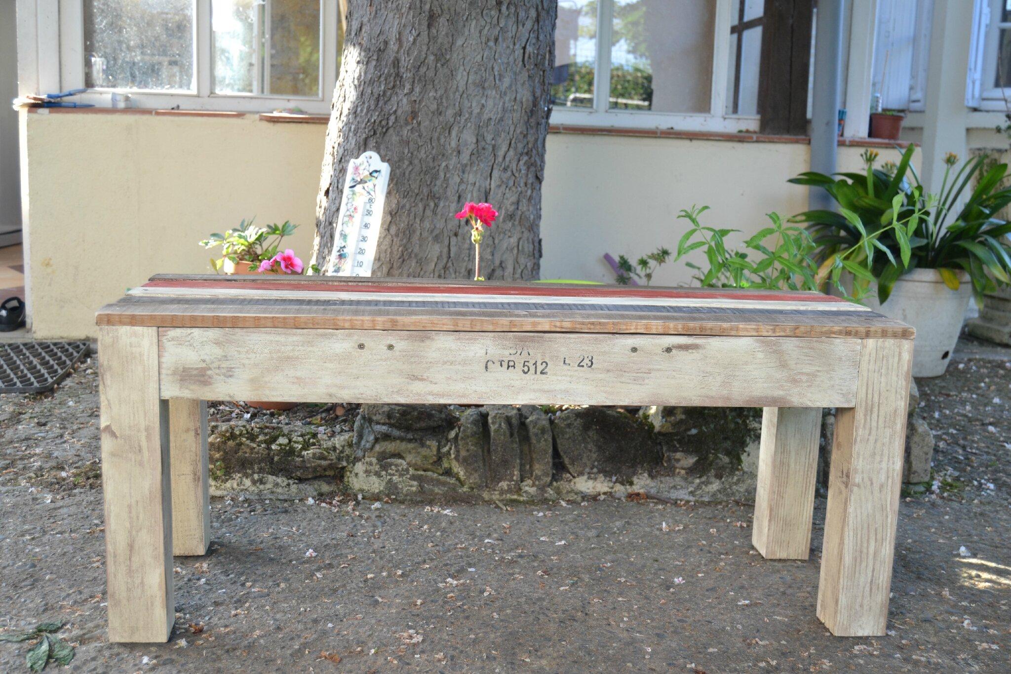 Banc En Bois De Palette : banc en bois de palette – LES LOISIRS D'ANGEGABY