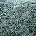 coussin vert (détails)