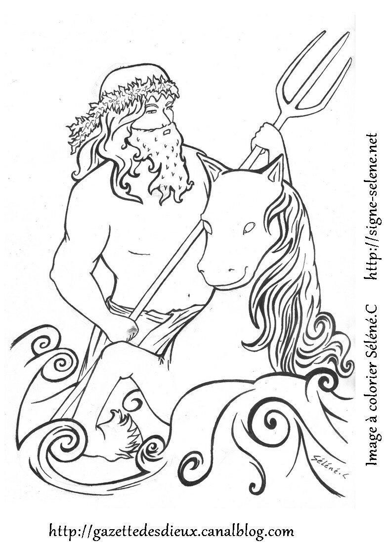 dio greco del mare