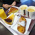 1er janvier 2014, petit déj' sur les Champs ...