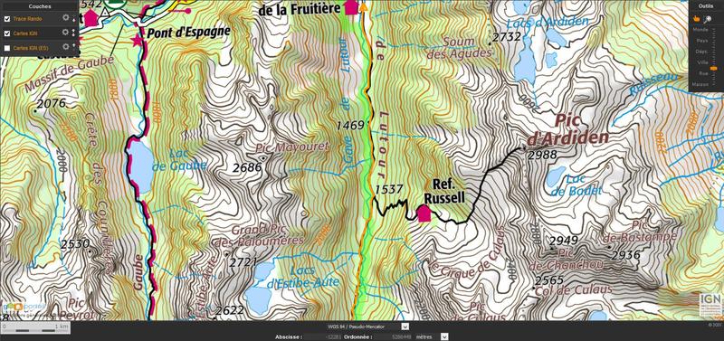 2017-07-20 23_06_26-Pyrandonnées - Randonnées dans les Pyrénées - Visualisation carte IGN Géoportail