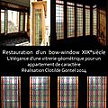 restauration vitrerie bow window