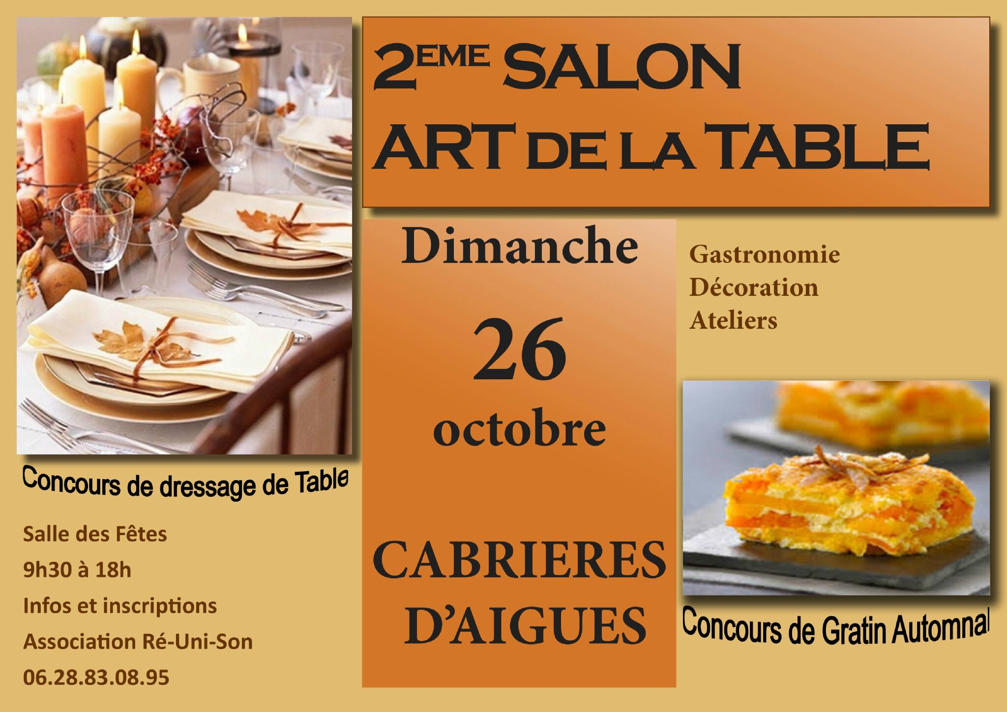 2eme salon des arts de la table potins de fleurs - Salon art de la table ...