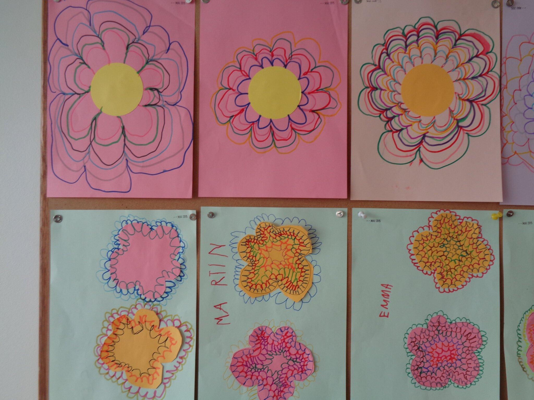 Printemps et fleurs chez mes petits et moyens - Fleurs printemps maternelle ...
