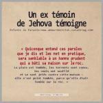 Une ex temoin de Jehova temoigne