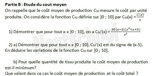 1ere derivation application aux variations 4 9 3