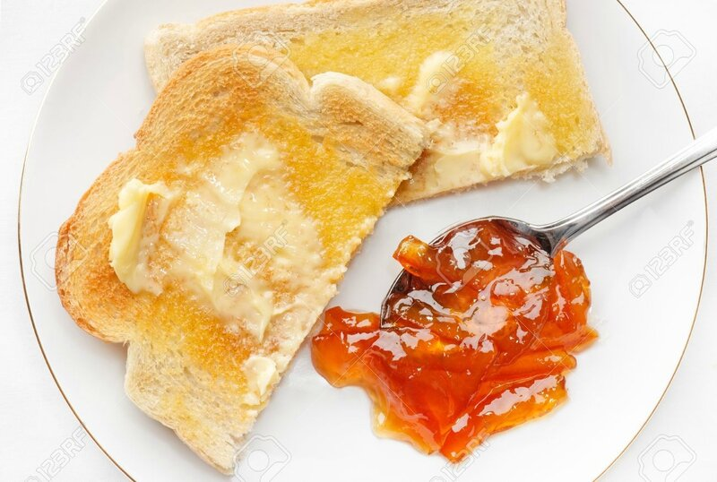 7050921-Hot-buttered-toast-and-marmalade-Stock-Photo
