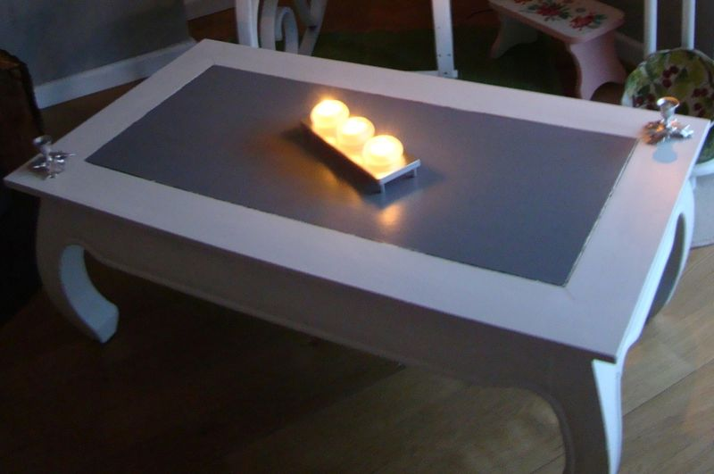 Table opium crea et passion - Peindre une table basse ...