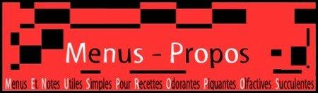 Menus_propos
