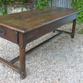 Table de ferme merisier 2.15m,table of farm