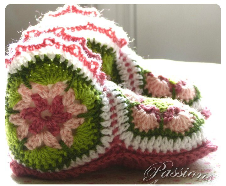 chaussons african flower2