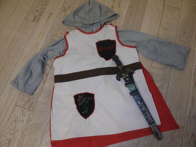 patron déguisement chevalier