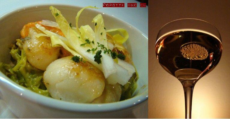 Noix de st jacques sur fondue de poireaux au curry - Noix de st jacques au four ...