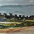 Noirmoutier marécage 2- aquarelle