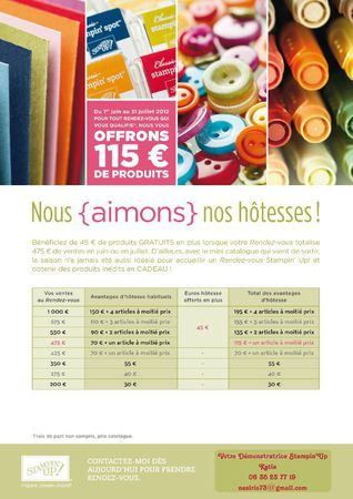 Offre htesses - Juin et Juillet